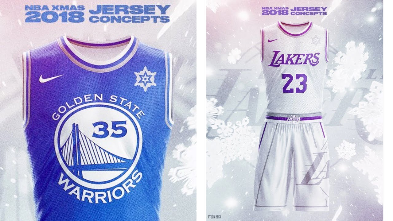 1f62da560ce NBA x NIKE 2018 Christmas Day Jersey Concepts - Tyson Beck - YouTube