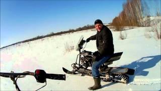 На Самодельных Снегоходах Денис, Костя, Илья И Я