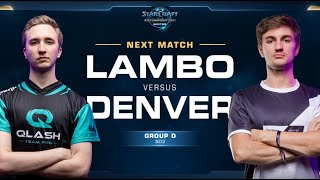 Lambo (Z) Vs Denver (Z) Game 2 WCS WINTER [ES] - Grupo D Europa
