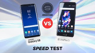 OnePlus 5 vs Galaxy S8 SPEED Test