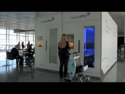 Discover the comfort of four brand new napcabs sleeping cabins at Munich Airport