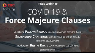 Force Majeure Clauses and the COVID 19 Pandemic | #EBCLearning.com