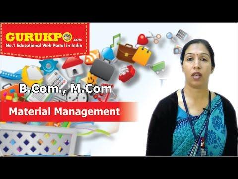 Material Management, Business Management  (B.Com III, MBA III sem), Gurukpo