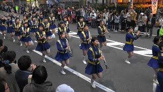 [4K]光のアートフェスタin 山科 オープニングパレード 京都橘高校吹奏楽部 Kyoto Tachibana SHS Band