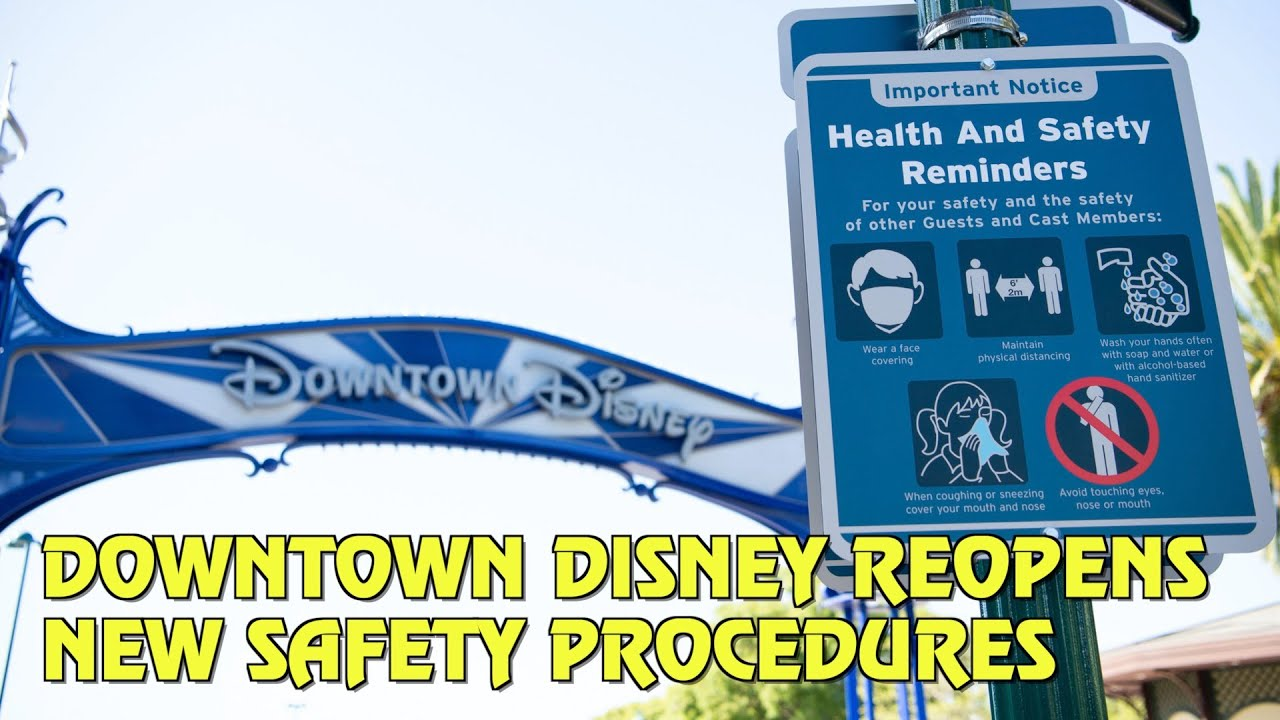 Downtown Disney Reopens with New Safety Procedures