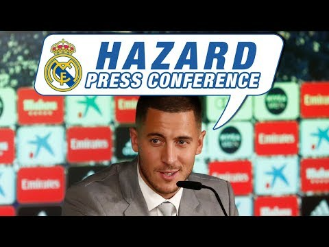 LIVE   Eden Hazard's first Real Madrid press conference!