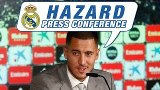LIVE | Eden Hazard's first Real Madrid press conference!