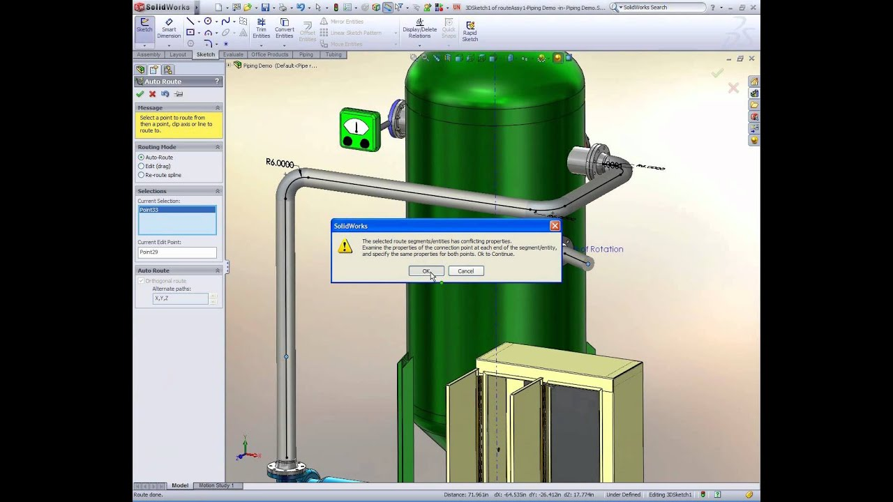 Solidworks Routing Youtube Piping Diagram