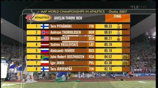 Men's Javelin Throw - World Championships 2007 Osaka - Part 2