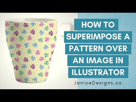 Janice Designs: How to Superimpose a Pattern Over an Image in Illustrator