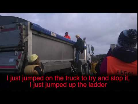 Trucking Protestors at Preston New Road Fracking Site