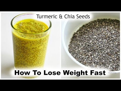 How To Lose Weight Fast With Turmeric & Chia Seeds - 5 kg - Golden Milk Chia Pudding - Turmeric Milk