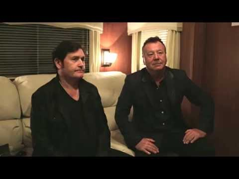 SIMPLE MINDS Back stage interview at Boomerang Hickstead 2015