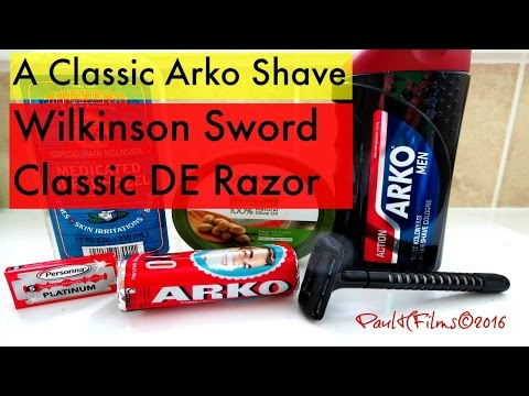 A Classic Arko Shave - Wilkinson Sword DE Razor
