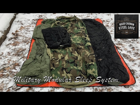 Military Modular Sleep System - My High Quality, All-Season Sleeping Bag - HighCarbonSteel Love