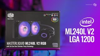HOWTO Install Cooler Master ML240L V2 RGB on Intel LGA 1200 and 115X Motherboards