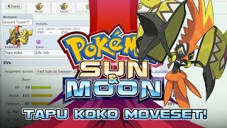 Tapu Koko Moveset Guide! How to use Tapu Koko! Pokemon Sun and Moon! w/ PokeaimMD!