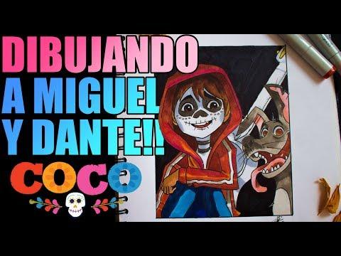 Dibujo de MIGUEL y DANTE de COCO!!!