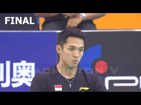 Badminton Asia Team Championships 2018 Final Jonatan CHRISTIE vs SHI Yuqi