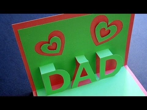 Fathers Day Pop Up Card Learn How To Make A Popup Card For Dad