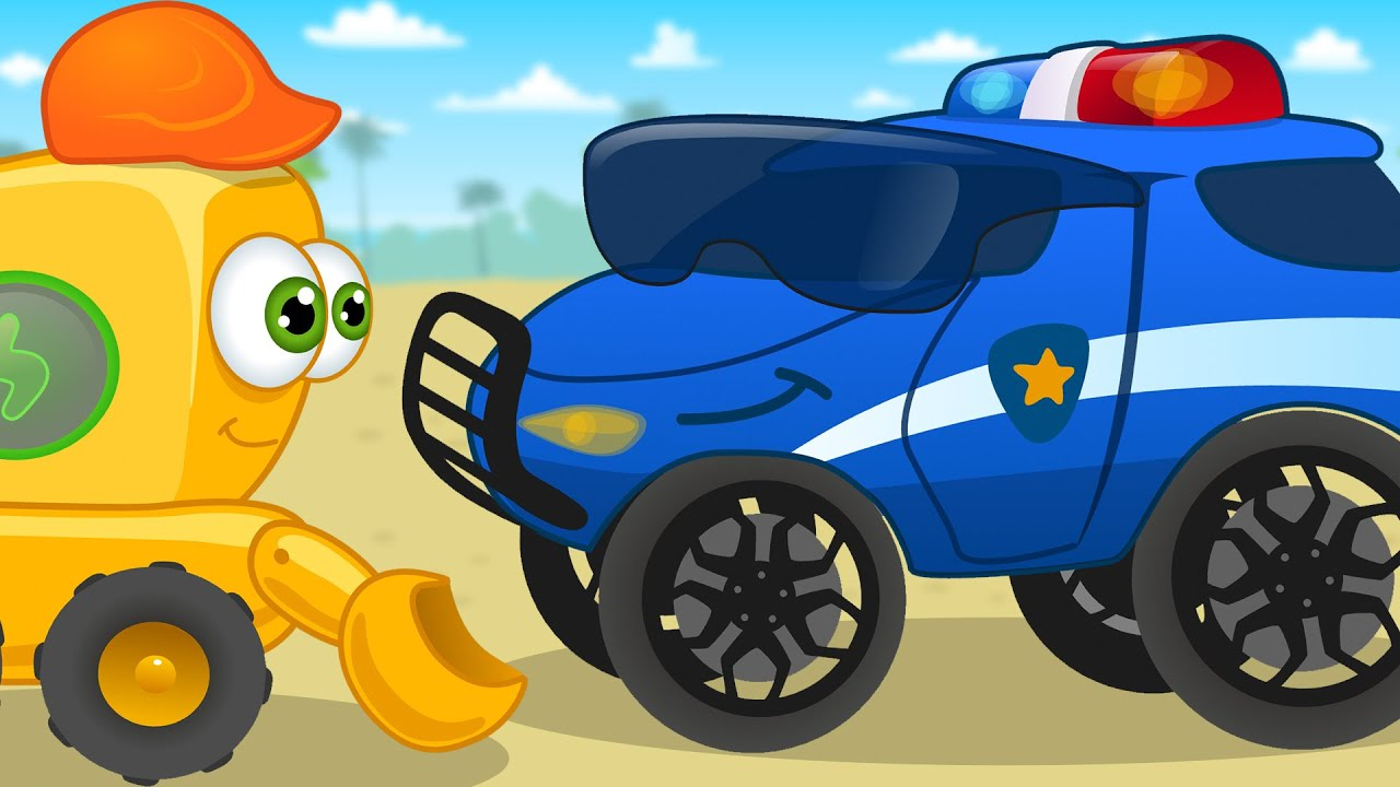 Police car cartoon song for baby