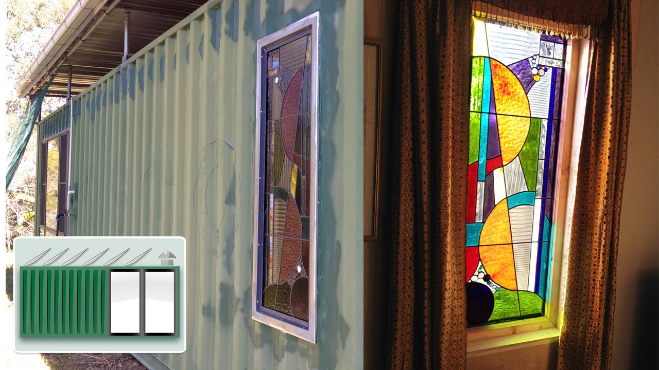 Glass windows house - Shipping Container House World S First Container With Stained Glass Windows