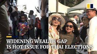 A flourishing 'high society' in Thailand puts its widening wealth gap in election spotlight