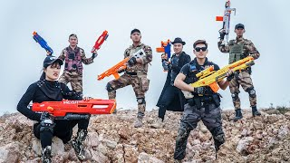 LTT Nerf War : Patrol Police SEAL X Warriors Nerf Guns Fight Crime Dr.Lee Crazy Alliance Justice