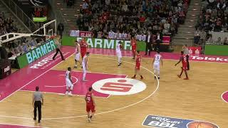 Telekom Baskets Bonn vs. Giessen 46ers - Larry Gordon #23 red - Playing Time Edit