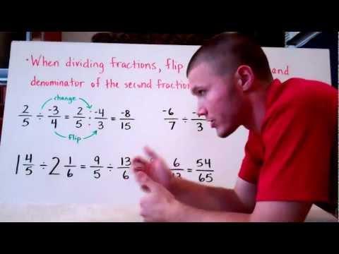 Multiplying & Dividing Positive & Negative Fractions