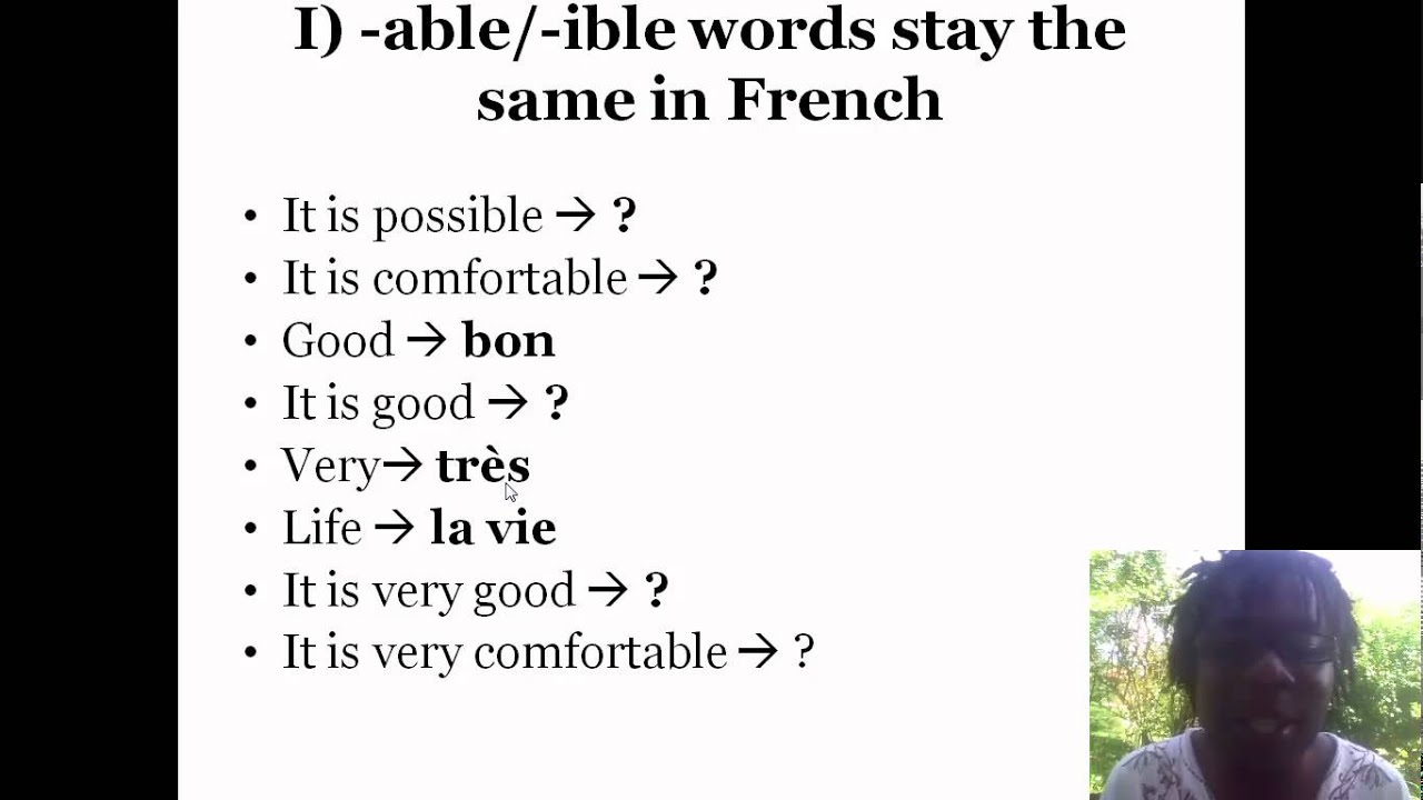 Worksheet Ible Words 1 learn french 1697 words in 5 minutes able ible youtube ible