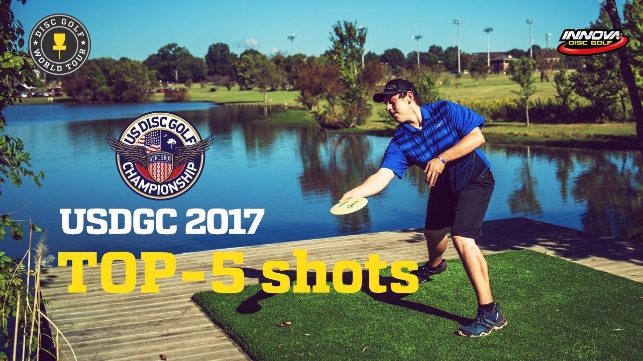 Top 5 Shots Of Us Disc Golf Championship 2017 Youtube