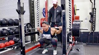 550LB SQUAT AT 163LB!? CRAZY STRENGTH!!