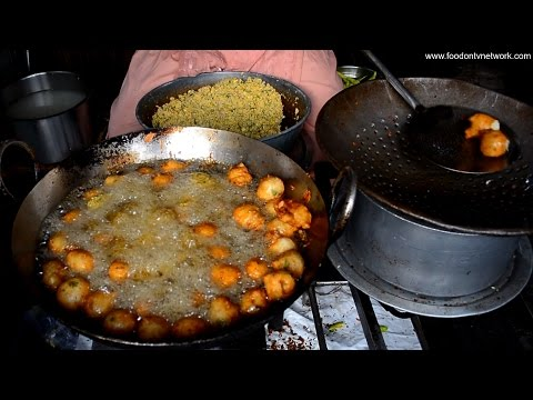 Brave Lady Cooking Street Food in Bangalore India