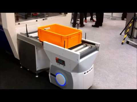 Adept Technology's Autonomous Mobile Robotic Conveyor