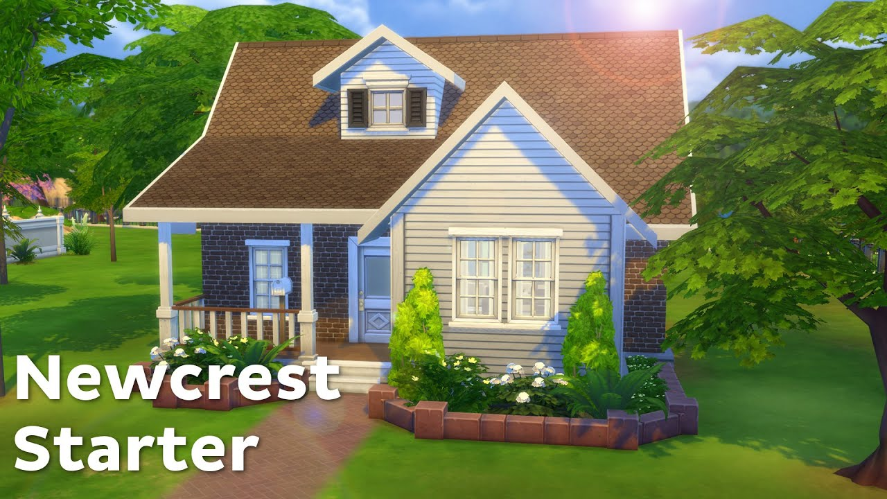 The sims 4 house building newcrest starter youtube for Small starter homes