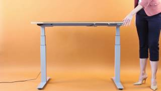 Uprise Desk with Baltic Birch Top - Almost Silent in Transition