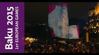 New video of 3D projection on Maiden's Tower | Baku 2015
