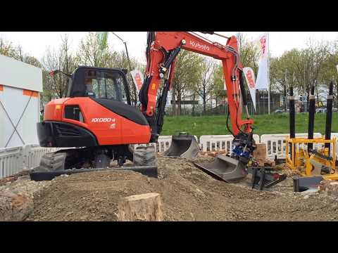 Kubota Mini Excavator KX080-4 With SMP Attachments