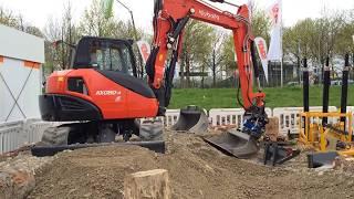 Kubota Mini Excavator KX080-4 With SMP Attachments