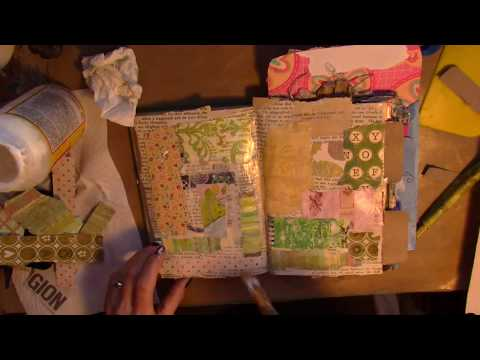 Altered Book  #26 paper towel roll/toilet paper roll pockets...