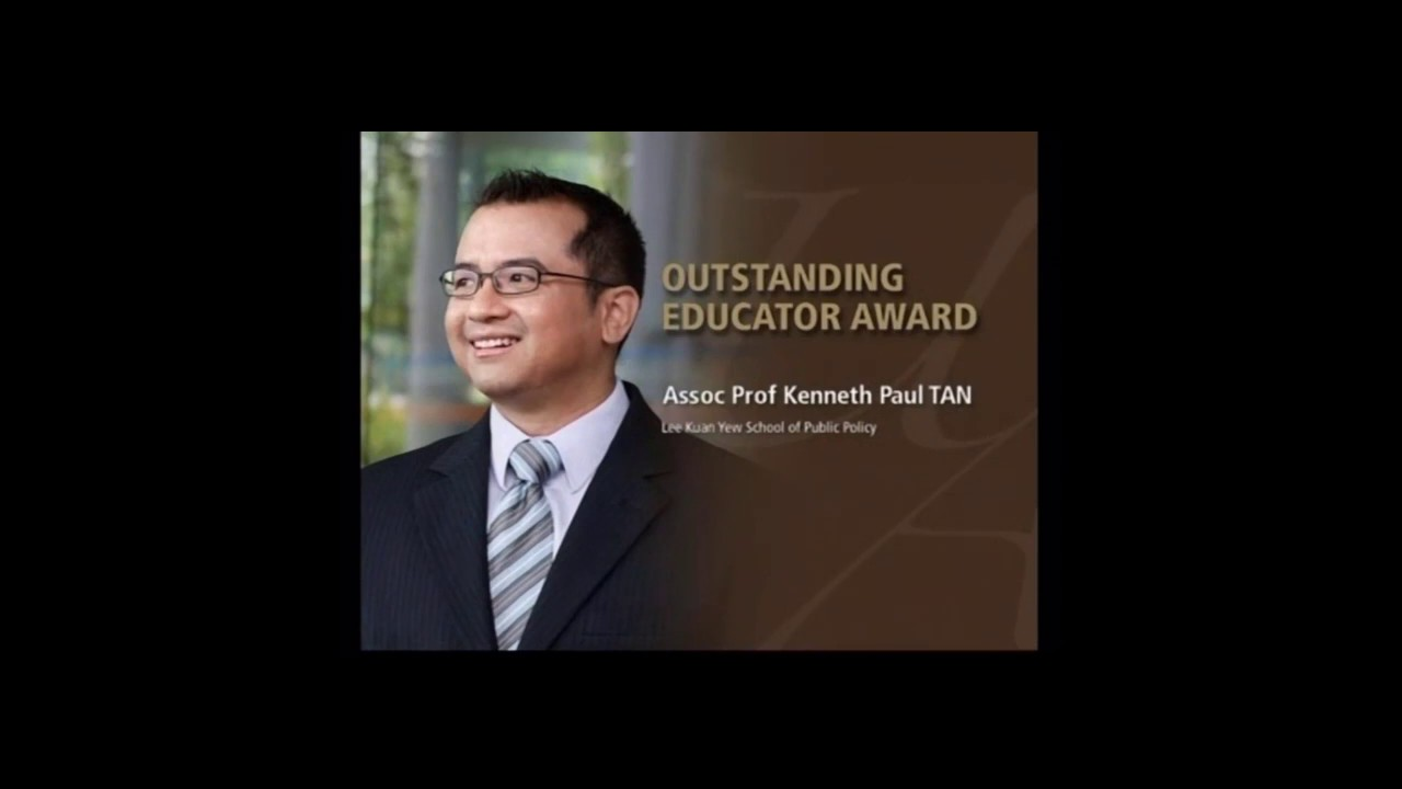 Received the Outstanding Educator Award 2009, National University of Singapore, 24 April 2009
