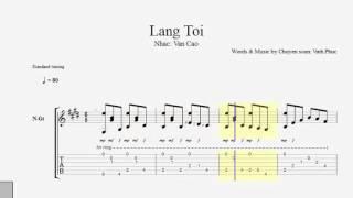 Làng Tôi ( Văn Cao ) - TAB Guitar Cổ Điển Việt Nam Vinh Phuc