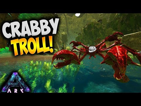 GIANT CRAB TROLLS TEAM XZIBIT (Ark Survival Evolved Aberration Karkinos Taming Pooping Evolved Ep 5)