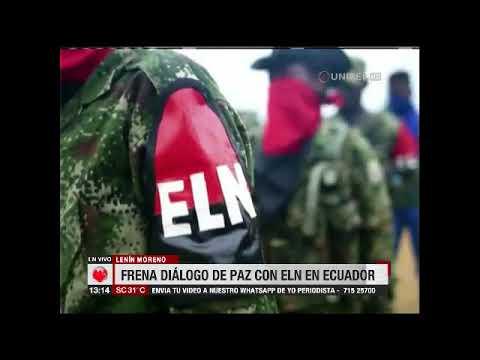 Presidente de Ecuador frena diálogo de paz con ELB por actividades terroristas