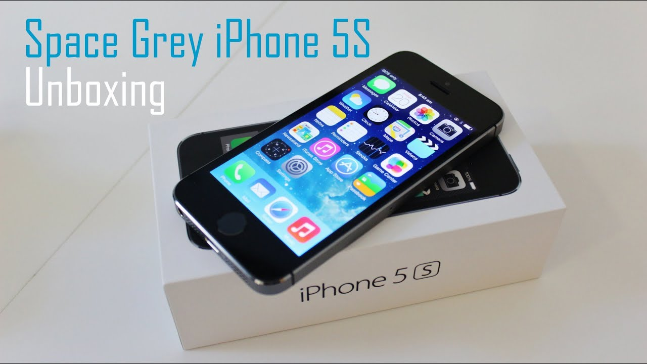 iphone 5s space grey unboxing images galleries with a bite. Black Bedroom Furniture Sets. Home Design Ideas