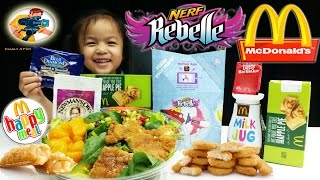 NEW McDonalds HAPPY MEAL KIDS TOYS 2015 Nerf Rebelle Girls Toys Review-Family4Fun