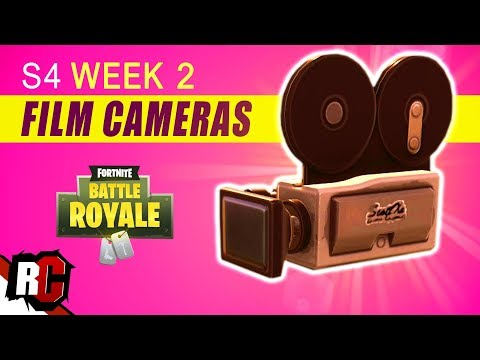here is how you can find all 7 film camera locations in fortnite battle royal this challenge is for season 4 week 2 and all you need to do is find and - fortnite week 2 cameras