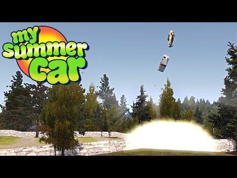 MY SUMMER CAR #40 - UN DÍA NORMAL.... Y EXPLOSIVO :v | GAMEPLAY ESPAÑOL
