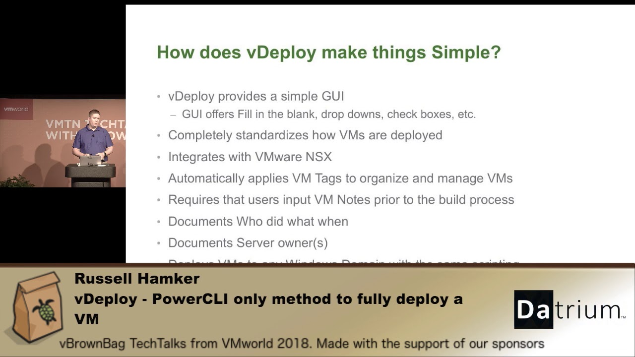 Russell Hamker - vDeploy - PowerCLI only method to fully deploy a VM